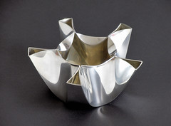 Pewter Bowl Prototype (Richard Sweeney) Tags: sculpture art geometric metal design fineart craft bowl symmetry prototype metalwork folded organic pewter industrialdesign naturalform artsculpture richardsweeney cncmanufacture
