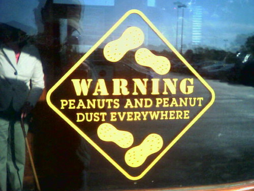peanuts warning