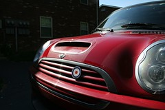 New Stripes (blalor) Tags: red mini dirty bullseye raf roundel stripeless