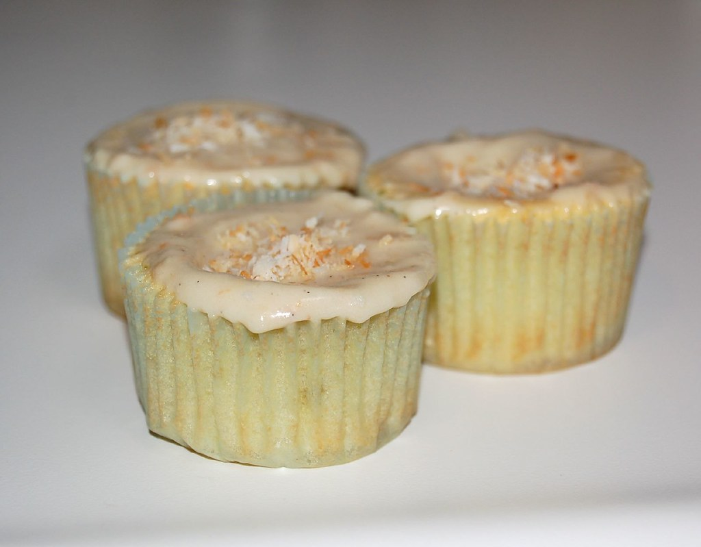 Finished product- Key Lime and Coconut Cupcakes