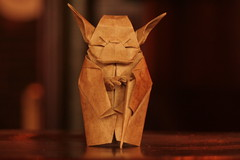 May the Autofocus be with you (straightfromthecask) Tags: paris france detail macro 350d interestingness origami yoda explore artsandcrafts theysay