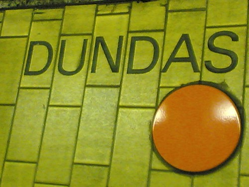 Orange Dot Southbound at Dundas Station