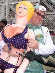shell stethoscope (editrixie) Tags: ocean nyc beach rain brooklyn coneyisland doctor bikini mermaids mermaid mermaidparade stethoscope merman nippleslip lovedoll mermaidparade2006 plasticgirlfriend helpidentifythispersonandhisspecialplasticrubbergirlfriend photobystaciejoy