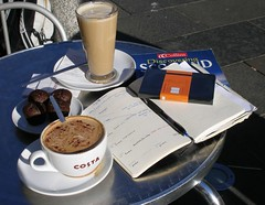 Coffee Moleskine (III, 2) (Lost in Scotland) Tags: moleskine coffee writing scotland glasgow journal
