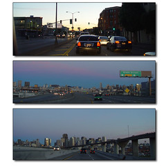 Going to Work (Franco Folini) Tags: sf sanfrancisco california ca morning usa sunrise work photography dawn us foto alba sony cesarchavez fotografia mattina dscf707 albeggiare francofolini folini