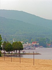 Lake George Beach - Adirondack Mountains - Ups...