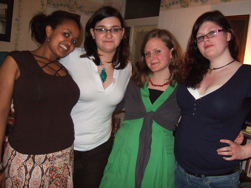 Four beautiful girls Chris, Stoy, Han and Charlotte pose for photo