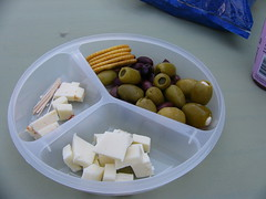 Olives and cheese (JAMES HALLROBINSON) Tags: olives greenolives stuffedolives cubedcheese jalapenojack