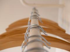 coat hangers (sannelodahl) Tags: wood metal denmark tr coathanger nophotoshop uncropped danmark mundane aarhus coathangers nophotoshopping rhus mundanedetail cfin bjle bjler jul5 juli5