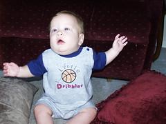 Gabe Sitting Up. (Laughing Water) Tags: boy big im