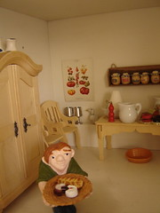 Doll house cook & kitchen (Anna Amnell) Tags: kitchen miniatures cocina miniatura thecook keitti dollshouse munecas puppenhaus nukkekoti nukketalo detailsofadollhouse yksityiskohtia redhaireddoll