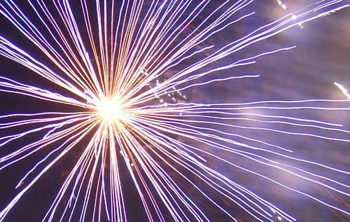 Fireworks in Downtown Orlando | Lake Eola