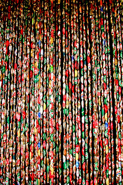 Recycling Ideas Unique Curtain With Bottle Caps Make