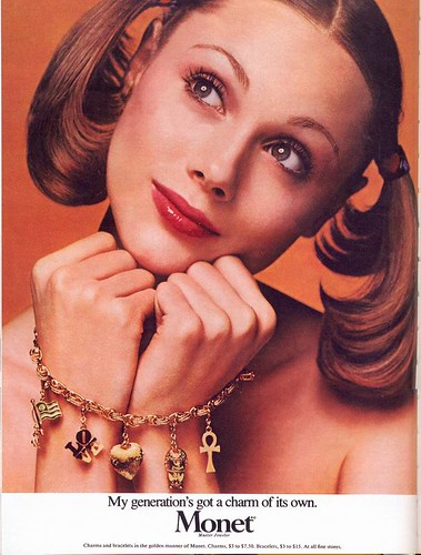 Monet Jewelers ad, 1973 by Gatochy