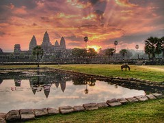 Angkor sunrise (Garion88) Tags: travel sunrise cambodia angkorwat apex angkor hdr exploretop20 angkorsingle angkorsunrise