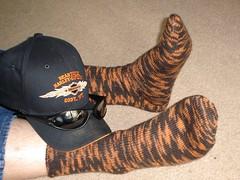 George's Harley-Davidson socks (Norcal Knitter) Tags: sock kal amonth