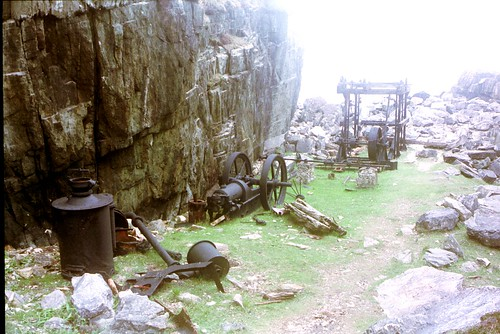 Old marble quarry at Iona by LHOON.