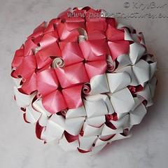 Community Garden  (K16043) (Origami Spirals) Tags: curler paper fold twirl origami burczyk folding art krysbur