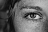(nicohoelke) Tags: favorite views eyecatcher auge schwarzweis blackwhite bestshot soul freckles sommersprossen art sonynex eye face portrait bw