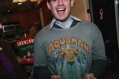 aqua man (killthebird) Tags: xmas party people fish 20d drunk slime eel yuk slimy aquaman scaley