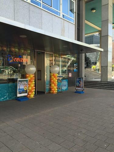 Ballonpilaar Breed Rond D-Reizen Coolsingel Rotterdam