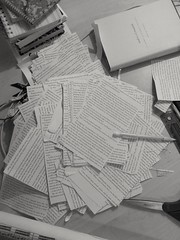 rough draft (Zachary Allaire) Tags: paper book blackwhite cut