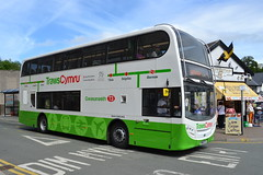 GHA Coaches Scania N230UD SN15ETE - Llangollen (dwb transport photos) Tags: bus alexander dennis llangollen scania enviro decker ghacoaches trawscymru sn15ete