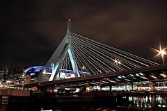 Boston at night (mmerc) Tags: camera longexposure bridge water boston night digital reflections dark ma photography photo photographer darkness picture newengland pic photographed masachusetts canoneosrebel t1i jakimbridge