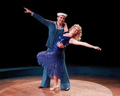 "Zachary S. Berger as Billy Lawlor and Melissa Lone as Peggy Sawyer in the 2010 Music Circus production of ""42nd Street"" at the Wells Fargo Pavilion August 24-29.  Photo by Charr Crail."