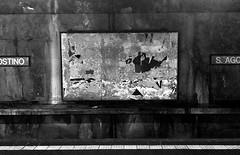 MIlano_Metro Sant'Agostino (firma) Tags: bw italy milan wall print italia metro milano under bn walls lombardia metropolitana muri lombardy