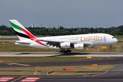 Emirates A380-8 A6-EEY (SjPhotoworld) Tags: plane canon germany airplane big airport dubai expo aircraft aviation transport engine emirates airbus a380 beast passenger ek arrival dusseldorf touchdown runway challenge duesseldorf jumbo dus airbusa380 passengerjet avgeek eddl a6eey