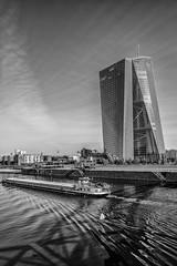 ezb (>>nicole>>) Tags: skyscraper frankfurt main schiff hochhaus ezb osthafen