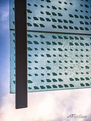 Glass & Sky (Jae at Wits End) Tags: glass sky lookingup upwards decay cracked blue rise rising up