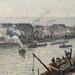 PISSARRO Camille,1896 - Port de Rouen, St-Sever (Orsay) - Detail 03