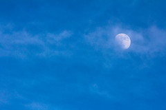 Moon in blue (Ismail Photos) Tags: moon blue sky cloud