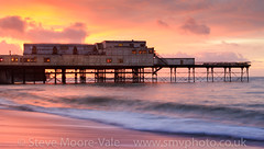Aberystwyth sunset (Steve Moore-Vale) Tags: aberystwyth wales sunet colours colors beach sand reflection sea pier longexposure stevemoorevale cymru 1635mm canon