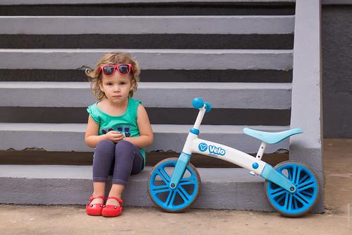 Retrato com a bicicleta