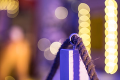 Christmassy Fence (Pittypomm) Tags: hff rope bokeh christmas lights fencedfriday