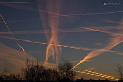 Sunrise – Mechelen – 2017 01 21 – 01 – Copyright © 2017 Ivan Coninx (Ivan Coninx Photography) Tags: ivanconinx ivanconinxphotography photography cloud clouds cloudspotting cloudscapes sky sunrise mechelen nature outdoor zonsopgang zonsopkomst belgië belgium contrail contrails