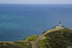 Cap Reinga (Rosca75) Tags: newzealand cap reinga phare lighthouse ocean oceanside oceanview oceans oceanblue infinity landscape blue horizon