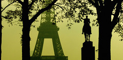 Paris - Eiffel Tower seen from Trocadéro (na_photographs) Tags: eiffelturm denkmal sightseeing landmark