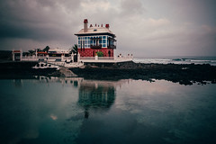 Once Upon a Time (explored 2017-01-18) (toletoletole (www.levold.de/photosphere)) Tags: fuji lanzarote xt2 sky himmel clouds wolken sea meer building haus architektur architecture reflection spiegelung