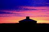 Sunset Historic Bell Barn (dloran01) Tags: bellbarn indianhead saskatchewan canada roundbarn stonebarn historic 1882 replica sunset interpretive