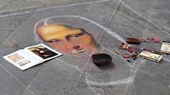 Street Art (Fabio Enrico Spagnoli) Tags: lagioconda art leonardodavinci lisagherardini monnalisa enigmatic arte portrait eyes gioconda street colors artist city italy lady
