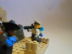 DSCN3815 (Mightyslickpancake) Tags: lego team fortress 2 heavy medic demoman soldier scout pyro spy engineer sniper ctf tf2 capture flag red vs blue hats