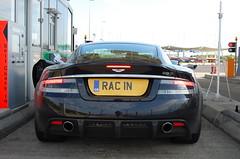 Aston Martin DBS (D's Carspotting) Tags: aston martin dbs france coquelles calais black 20100613 rac1n racin le mans 2010 lm10 lm2010