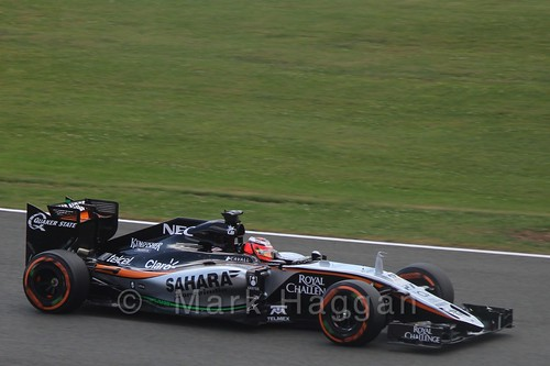 Nico Hulkenberg in qualifying for the 2015 British Grand Prix at Silverstone