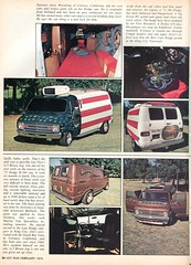 1974 Custom Vans in Hot Rod February 1974 (SenseiAlan) Tags: hot 1974 rod vans february custom