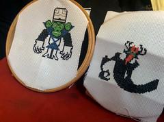 Cartoon Super Villain Cross Stitch (deadmanjones) Tags: crossstitch aku mojojojo samuraijack