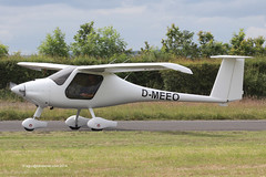 D-MEEO - Pipistrel Virus SW100, arriving at Eshott for the 2014 Great North Fly-in (egcc) Tags: microlight virus greatnorth pipistrel flyuk eshott sw100 dmeeo 440swn100kit